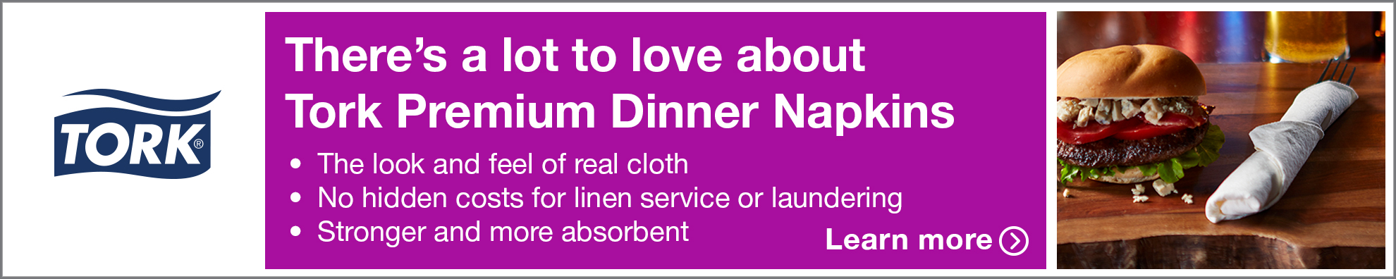 Essity - Tork Premium Dinner Napkins - banner - both - 05.18